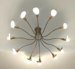 1960s Italian chandelier in polished brass - 1632255