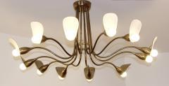 1960s Italian chandelier in polished brass - 1632258