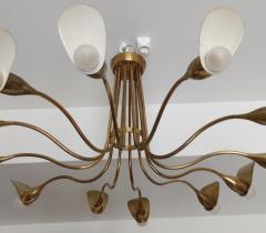 1960s Italian chandelier in polished brass - 1632259