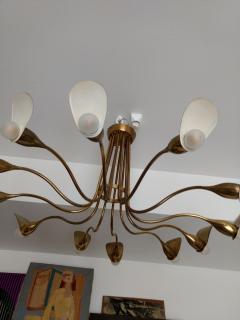 1960s Italian chandelier in polished brass - 1632260