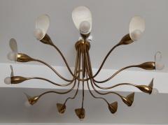 1960s Italian chandelier in polisned brass - 1518240