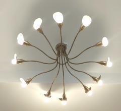 1960s Italian chandelier in polisned brass - 1518244