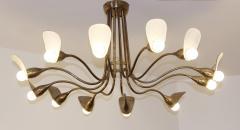 1960s Italian chandelier in polisned brass - 1518247