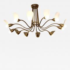 1960s Italian chandelier in polisned brass - 1522907