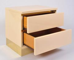 1960s Italian cream bedside chests - 730862