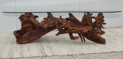 1960s Kidney Shape Drit wood Coffee Table - 1292522