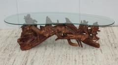 1960s Kidney Shape Drit wood Coffee Table - 1292523