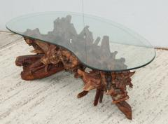 1960s Kidney Shape Drit wood Coffee Table - 1292528