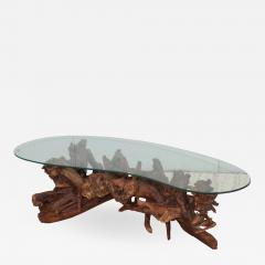 1960s Kidney Shape Drit wood Coffee Table - 1292785