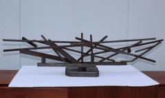 1960s Large Modernist Solid Steel Welded Sculpture - 1182973