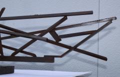 1960s Large Modernist Solid Steel Welded Sculpture - 1182974