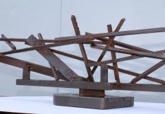 1960s Large Modernist Solid Steel Welded Sculpture - 1182975