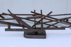 1960s Large Modernist Solid Steel Welded Sculpture - 1182976