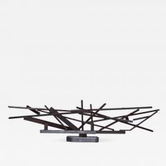 1960s Large Modernist Solid Steel Welded Sculpture - 1184899