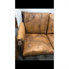 1960s Mid Century Brazilian Stitched Leather Sofa - 1356094