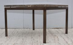 1960s Mid Century Modern Bronze And Marble Custom Made Coffee Table - 2046072