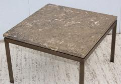 1960s Mid Century Modern Bronze And Marble Custom Made Coffee Table - 2046073