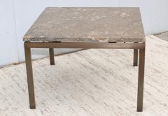 1960s Mid Century Modern Bronze And Marble Custom Made Coffee Table - 2046075