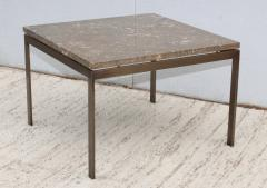 1960s Mid Century Modern Bronze And Marble Custom Made Coffee Table - 2046076