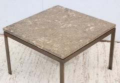 1960s Mid Century Modern Bronze And Marble Custom Made Coffee Table - 2046077