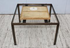 1960s Mid Century Modern Bronze And Marble Custom Made Coffee Table - 2046078