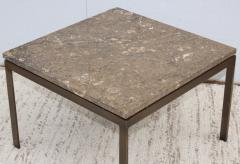 1960s Mid Century Modern Bronze And Marble Custom Made Coffee Table - 2046088