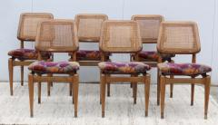 1960s Modern Dining Chairs With Jack Lenor Larsen Fabric - 1988188
