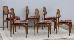 1960s Modern Dining Chairs With Jack Lenor Larsen Fabric - 1988189