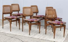 1960s Modern Dining Chairs With Jack Lenor Larsen Fabric - 1988190