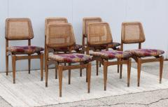 1960s Modern Dining Chairs With Jack Lenor Larsen Fabric - 1988191