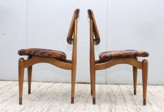1960s Modern Dining Chairs With Jack Lenor Larsen Fabric - 1988192