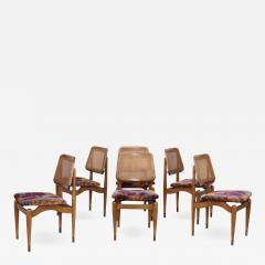 1960s Modern Dining Chairs With Jack Lenor Larsen Fabric - 1988900