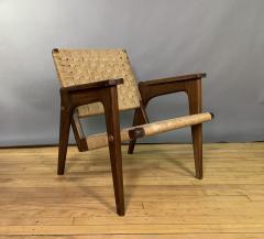 1960s Oskar Riedel Viennese Woven Rope Armchair Austria - 1778134