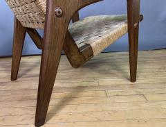 1960s Oskar Riedel Viennese Woven Rope Armchair Austria - 1778136