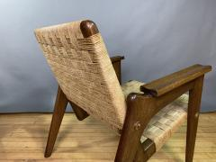 1960s Oskar Riedel Viennese Woven Rope Armchair Austria - 1778140