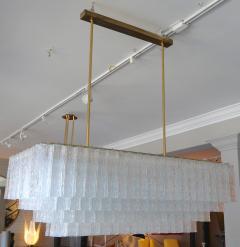 1960s Rectangular Murano Glass Vistosi Chandelier - 461572