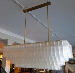 1960s Rectangular Murano Glass Vistosi Chandelier - 461573