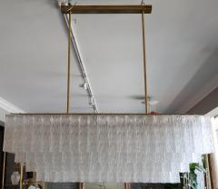 1960s Rectangular Murano Glass Vistosi Chandelier - 461574