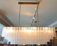 1960s Rectangular Murano Glass Vistosi Chandelier - 461577