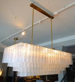 1960s Rectangular Murano Glass Vistosi Chandelier - 461578