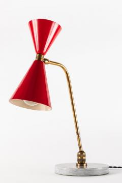 1960s Red Double Cone Table Lamp in the Manner of Pierre Guariche - 864442