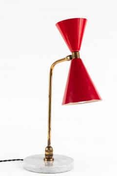 1960s Red Double Cone Table Lamp in the Manner of Pierre Guariche - 864444