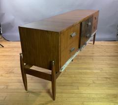 1960s Satinwood Rosewood Marble Credenza American Modern - 1757769