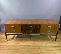 1960s Satinwood Rosewood Marble Credenza American Modern - 1757772