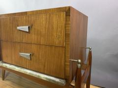 1960s Satinwood Rosewood Marble Credenza American Modern - 1757773
