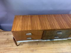 1960s Satinwood Rosewood Marble Credenza American Modern - 1757774
