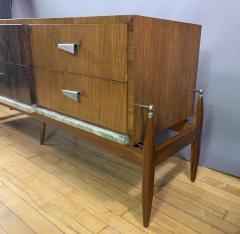 1960s Satinwood Rosewood Marble Credenza American Modern - 1757777