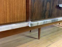 1960s Satinwood Rosewood Marble Credenza American Modern - 1757779