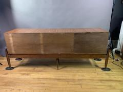 1960s Satinwood Rosewood Marble Credenza American Modern - 1757780