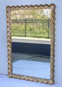 1960s Scalloped Oversize Italian Mirror - 1408850